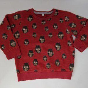 Monkey Sweatshirt Size: 2 - 3 Years